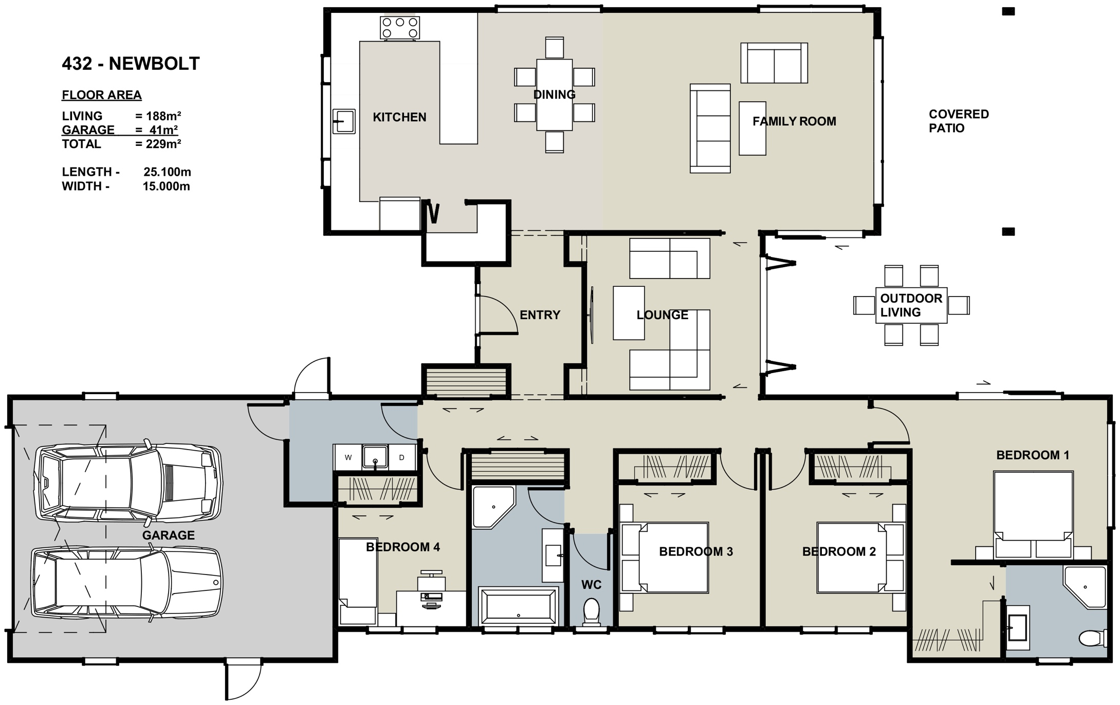 Taupo Showhome Floor Plan