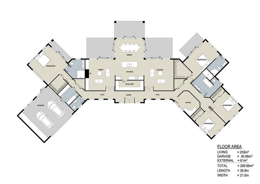 Auckland Showhome floor plan
