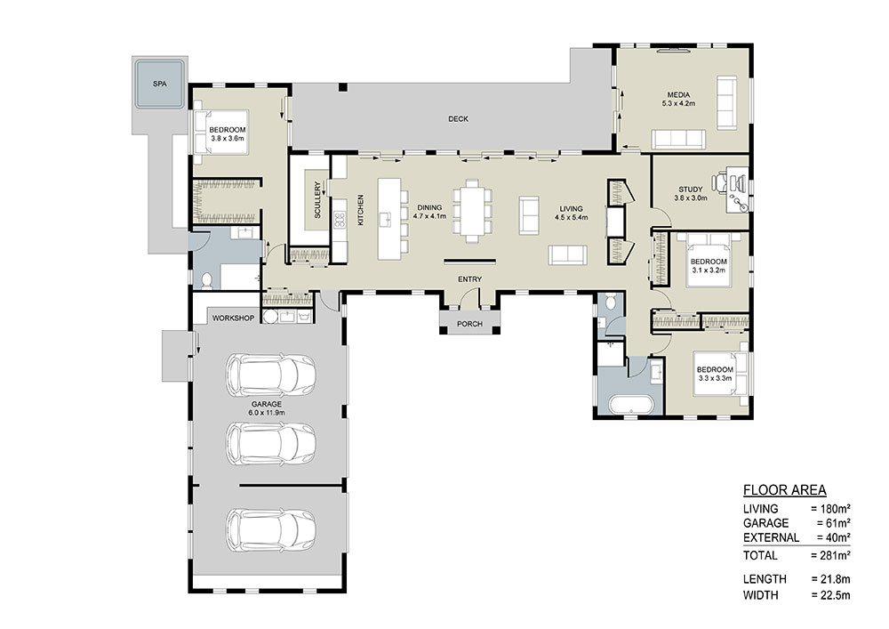the Caldbeck floor plan