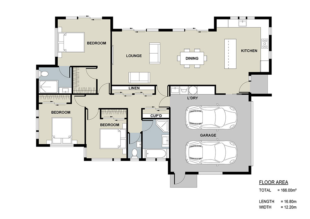 Open Plan Living Floor Plan
